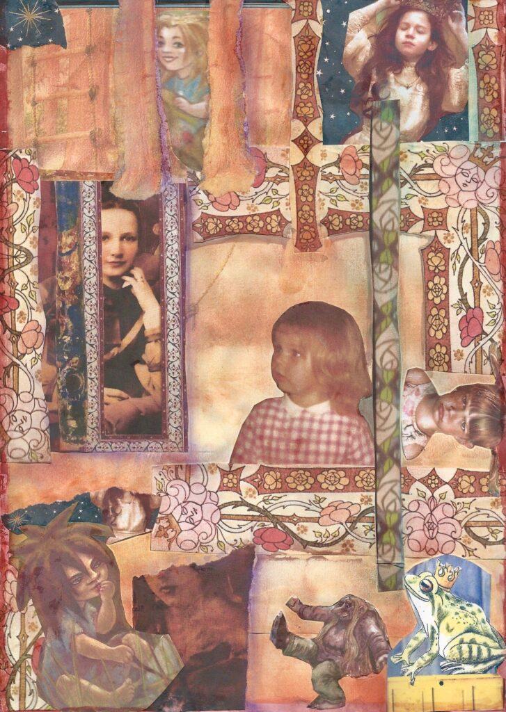 Collage fra arbejde med Det Indre Barn